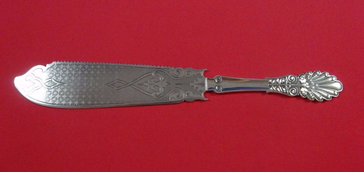 Anthemion by Wood and Hughes Sterling Silver Cake Saw 10 3/4""