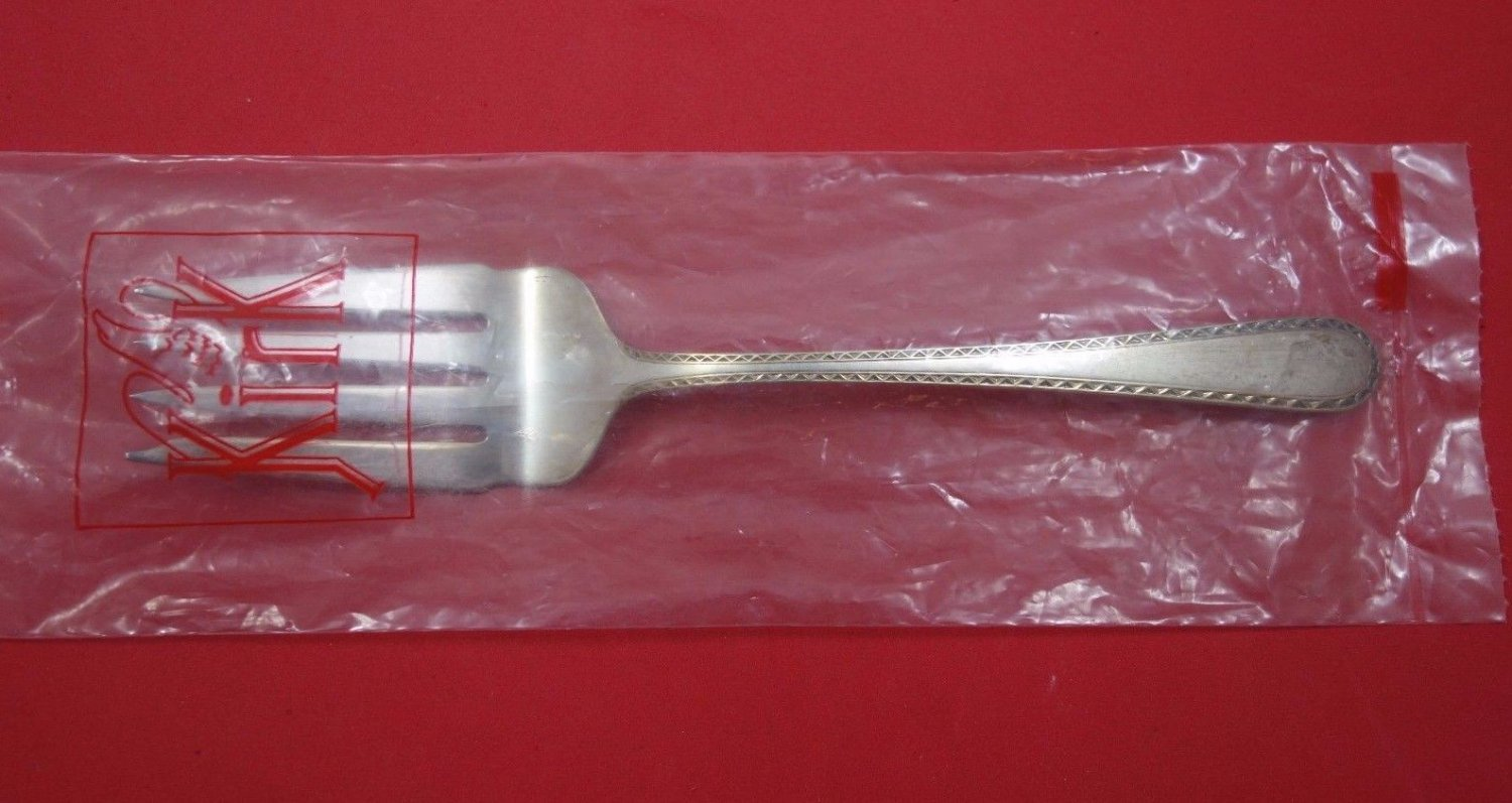 "Golden Winslow by Kirk Sterling Silver Cold Meat Fork 8 3/4"" New"