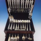 Rose Point by Wallace Sterling Silver Dinner Size Flatware Set 12 Service 93 Pcs