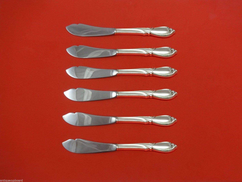"""Rhapsody New by International Sterling Silver Trout Knife Set 6pc Custom 7 1/2"""""""