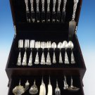 Bridal Rose by Alvin Sterling Silver Flatware Set For 8 Service 57 Pieces