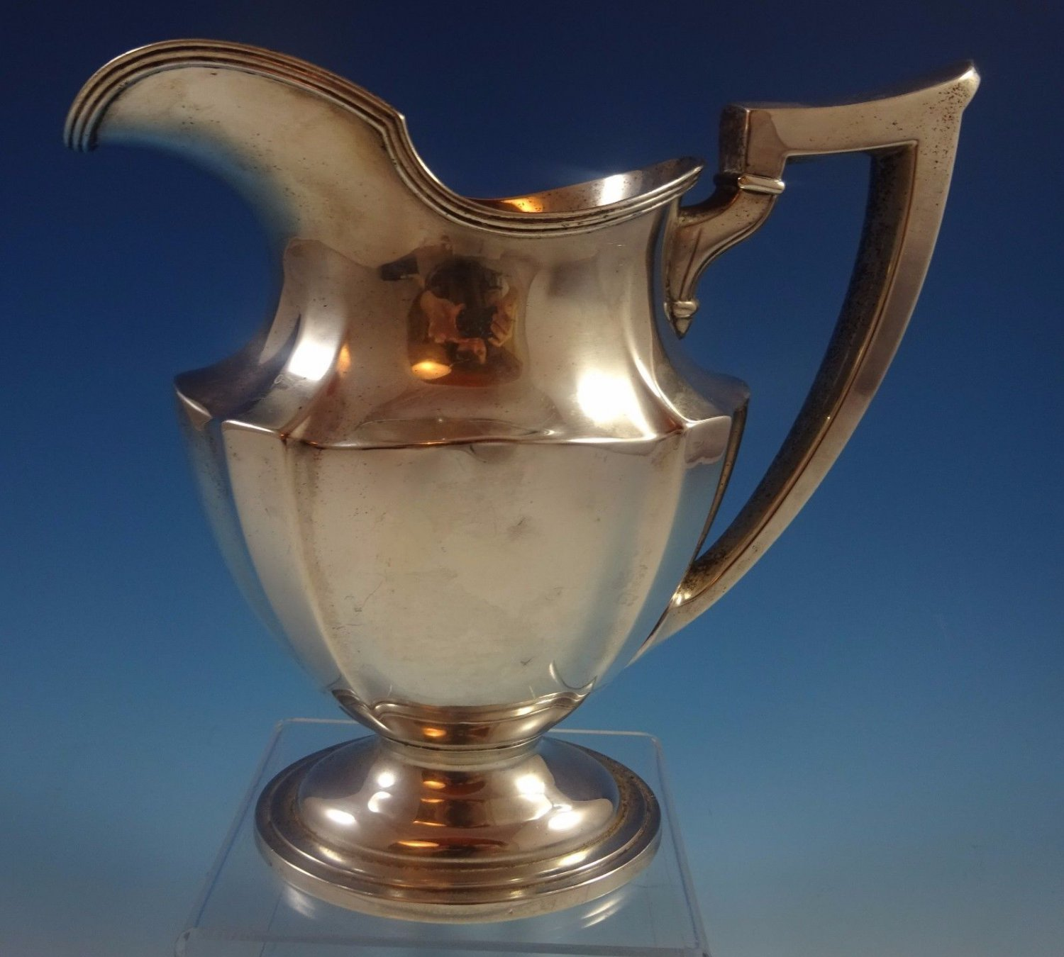 "Plymouth by Gorham Sterling Silver Water Pitcher #A8396 8 1/2"" X 8 3/4"" (#1210)"