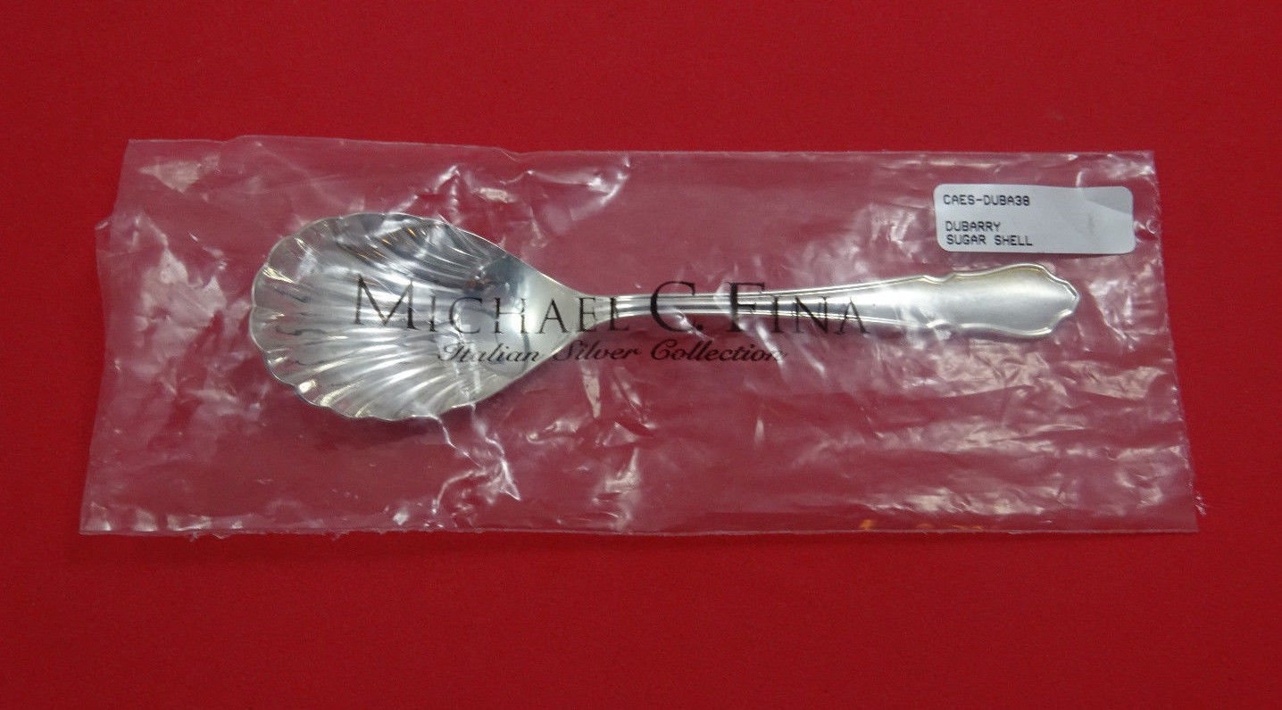 "Du Barry by Carrs Sterling Silver Sugar Spoon Shell 5 3/4"" New (Retails $130)"