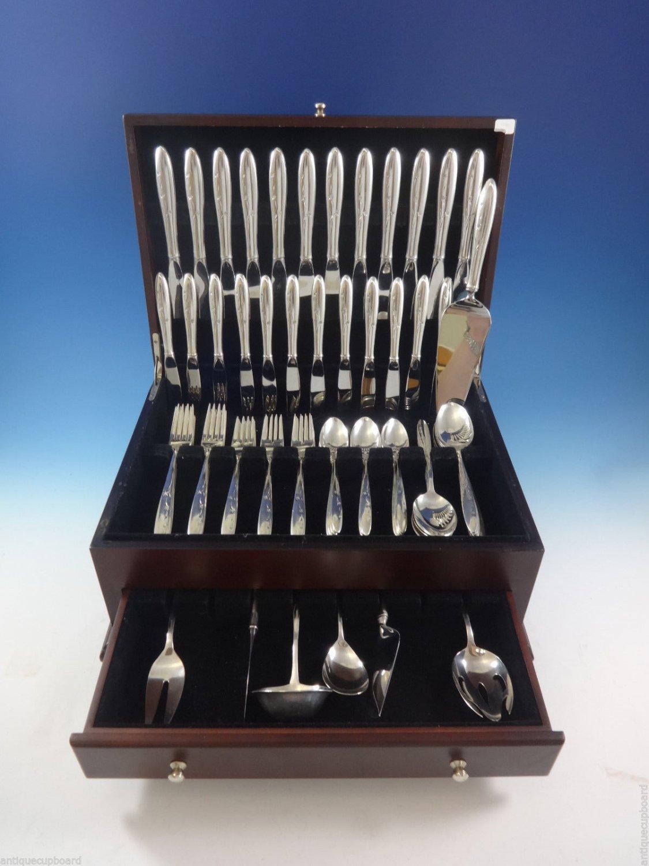 Celeste by Gorham Sterling Silver Flatware Set For 12 Service 79 Pcs Modern