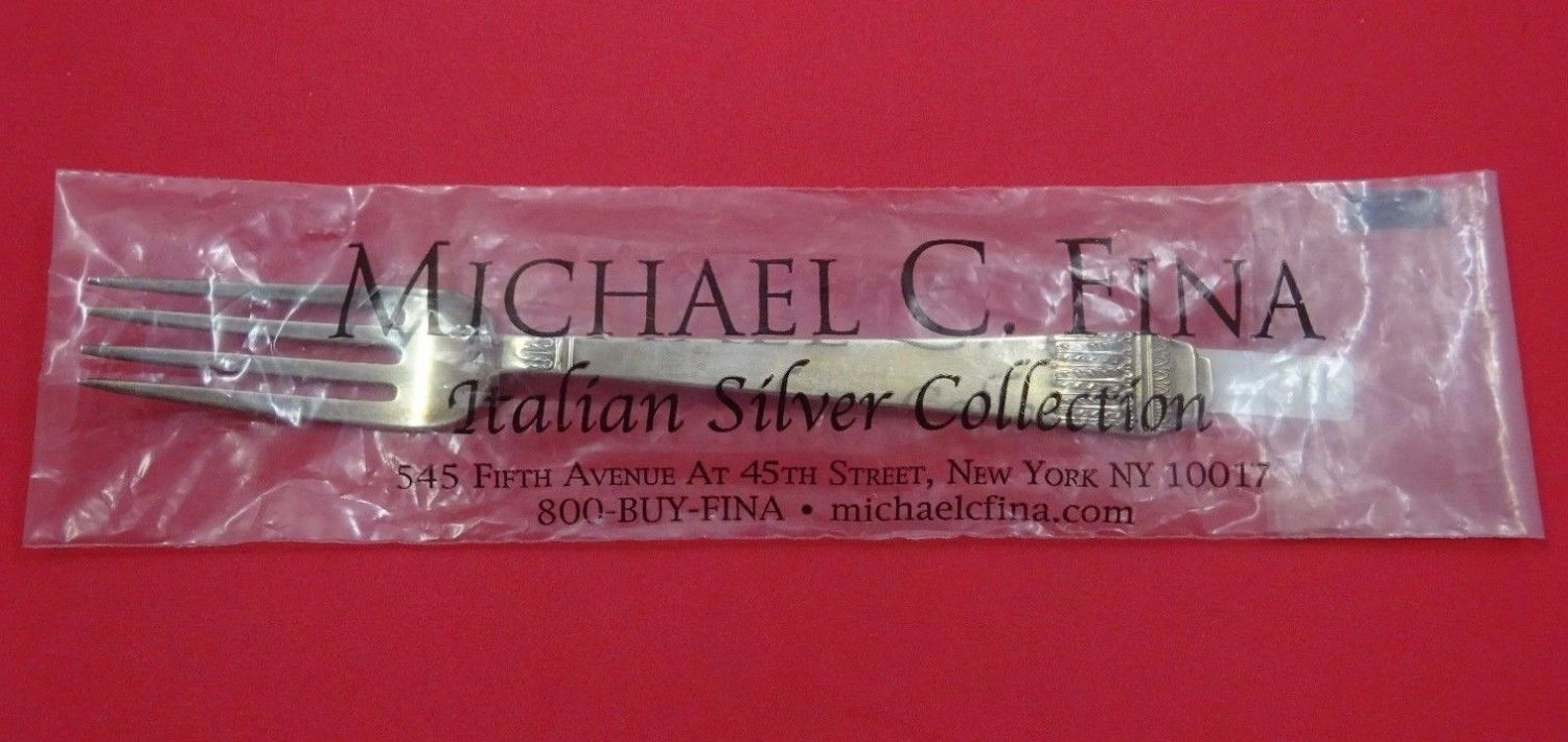 """Coloniale by Calegaro Italian Sterling Silver Dinner Fork 8 1/2"""" Retail $240 New"""