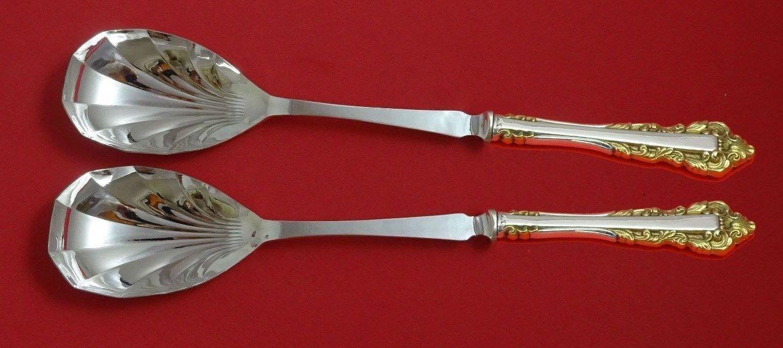Medici New Golden by Gorham Sterling Silver Salad Serving Set 2pc Fluted Custom
