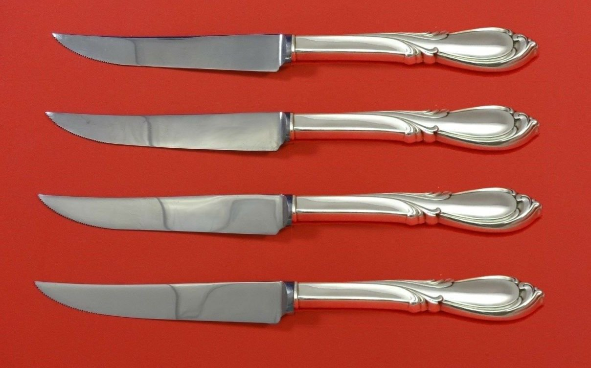 Rhapsody New by International Sterling Silver Steak Knife Set 4pc HHWS  Custom