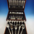 Modern Victorian by Lunt Sterling Silver Flatware Set For 12 Service 77 Pieces