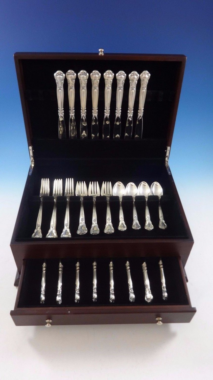 Chantilly by Gorham Sterling Silver Place Size Flatware Set 8 Service 40 Pcs