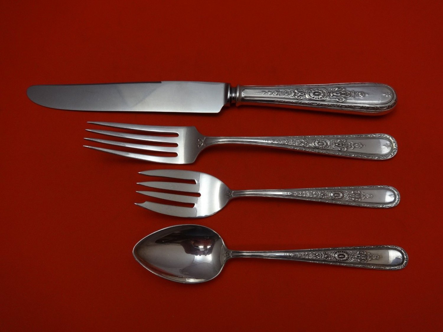 Lady Sterling by Weidlich Sterling Silver Regular Size Place Setting(s) 4pc