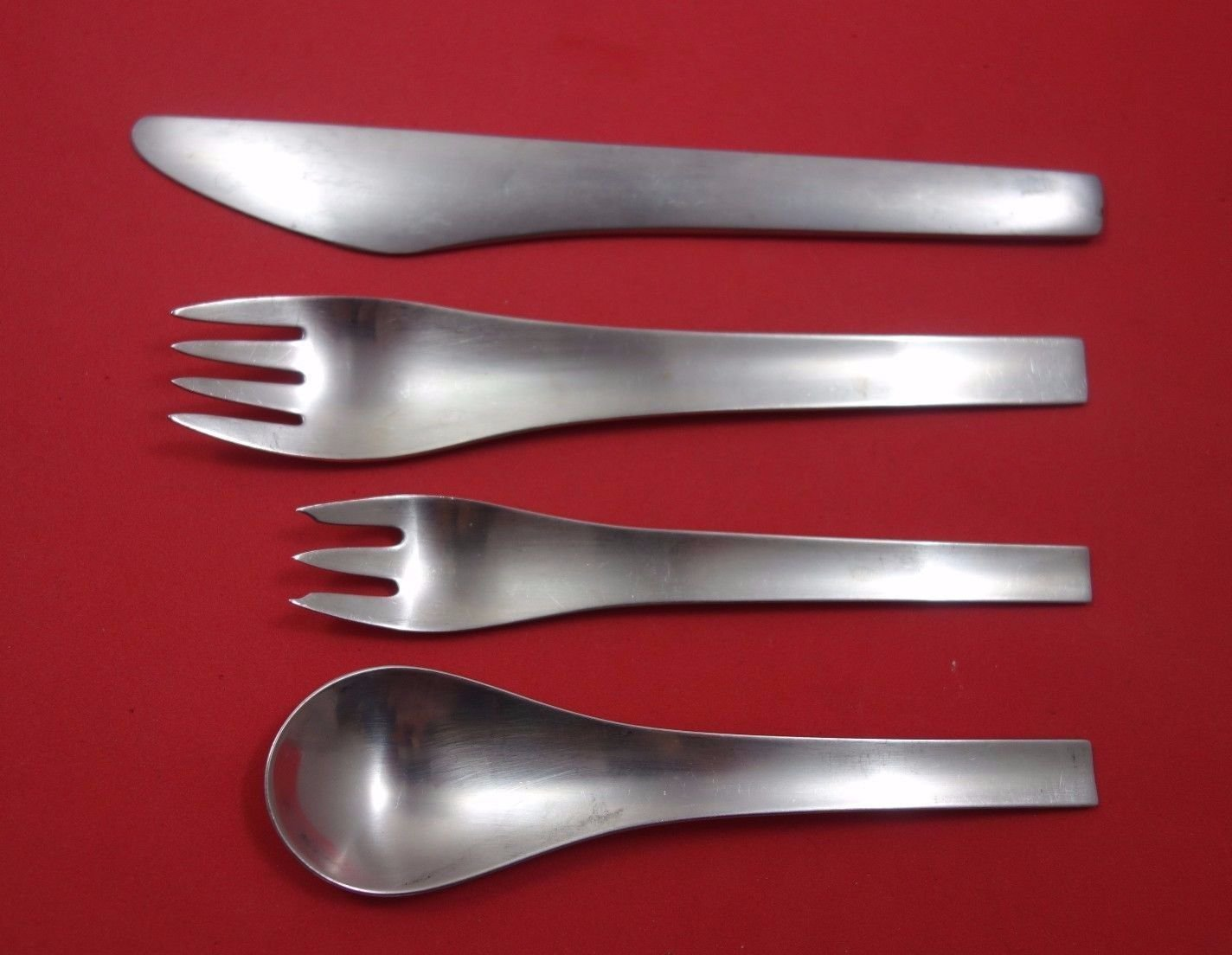 Blue Shark Matte by Georg Jensen Stainless Dinner Size Place Setting(s) 4pc