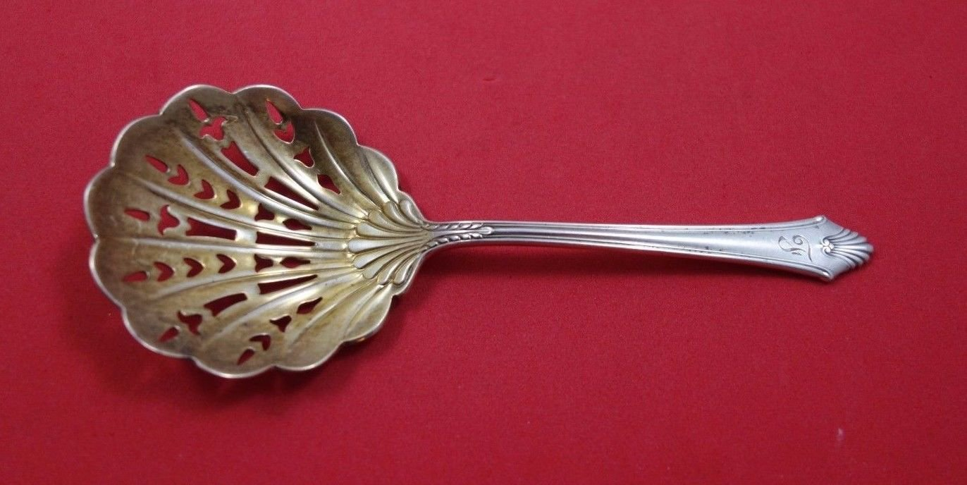 """Edgemont by Gorham Sterling Silver Nut Spoon Gold Washed 4 3/4"""""""
