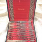 Mayflower by Welsh & Bro Sterling Silver Knives Set, 12 Square Handle AS 7 1/4""