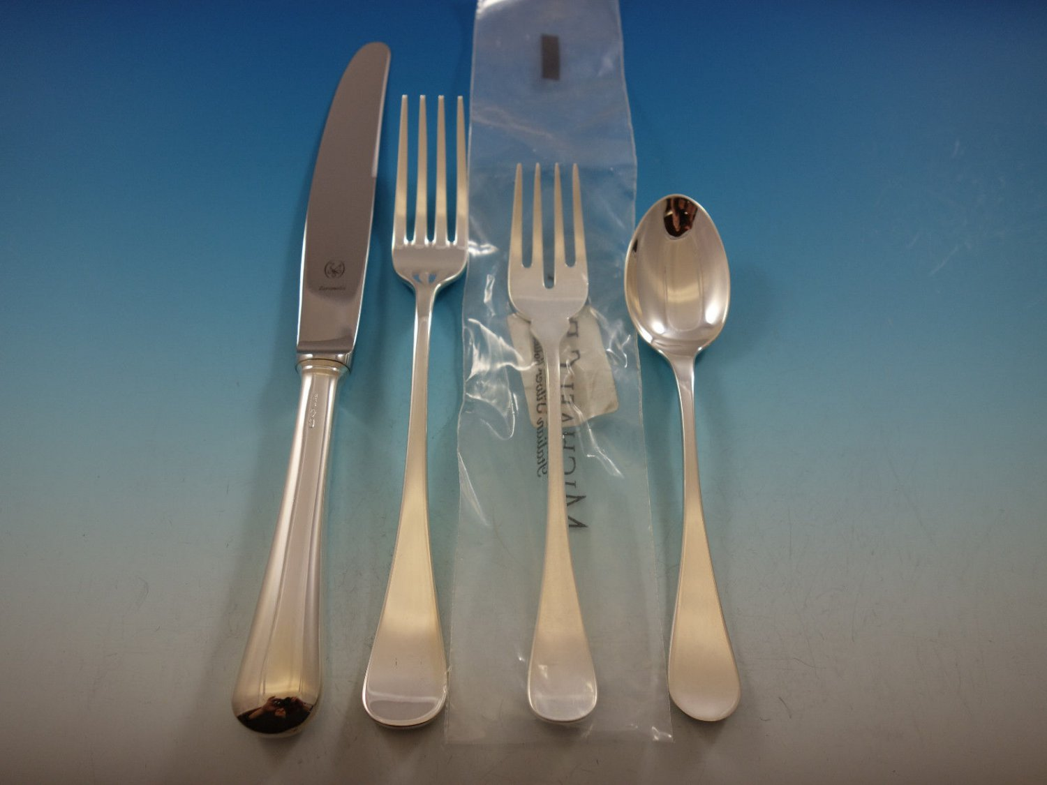 Spagnolo by Zaramella Italy Sterling Silver Flatware Set 12 Dinner 51 Pcs New