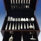 Margaret Rose by National Sterling Silver Dinner Flatware Set 8 Service 43 Pcs