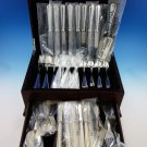 Maurizano by Schiavon Italy Sterling Silver Flatware Set 8 Dinner 46 Pcs New