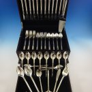 Aegean Weave Plain by Wallace Sterling Silver Flatware Set For 12 Service 67 Pcs
