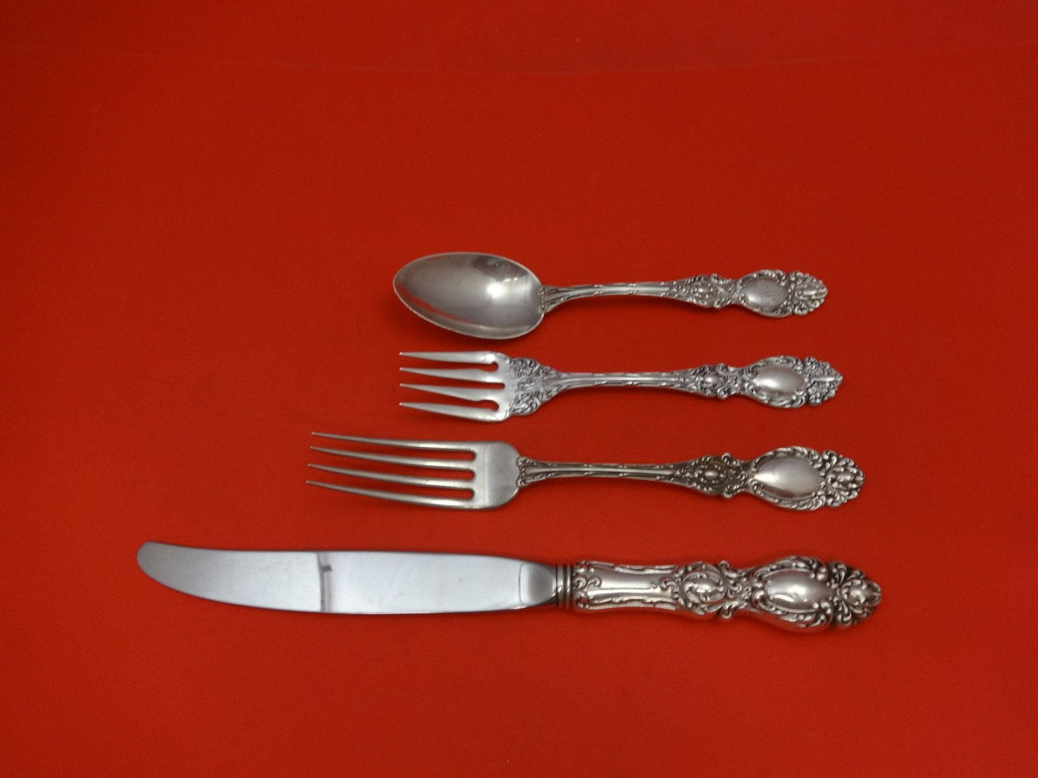 Lucerne by Wallace Sterling Silver Regular Size Place Setting(s) 4pc