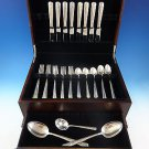 Rambler Rose by Towle Sterling Silver Flatware Set For 8 Service 43 Pieces