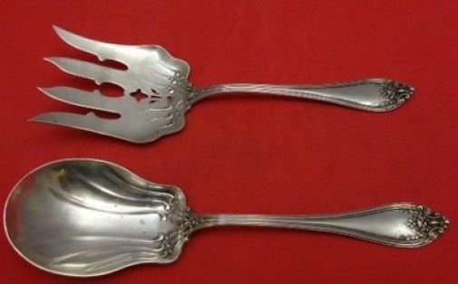 Florence by International Sterling Silver Salad Serving Set 8 3/4""