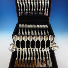 Waltz of Spring by Wallace Sterling Silver Flatware Service For 12 Set 72 Pieces