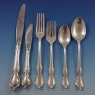Pirouette by Alvin Sterling Silver Flatware Set For 12 Service 79 Pieces