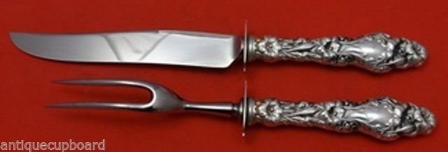 Lily by Whiting Sterling Silver Steak Carving Set 2pc HHWS  9 1/4""