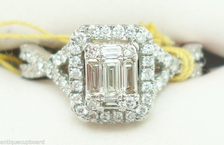 14K White Gold 1 Carat Genuine Natural Diamond Ring (#2361)