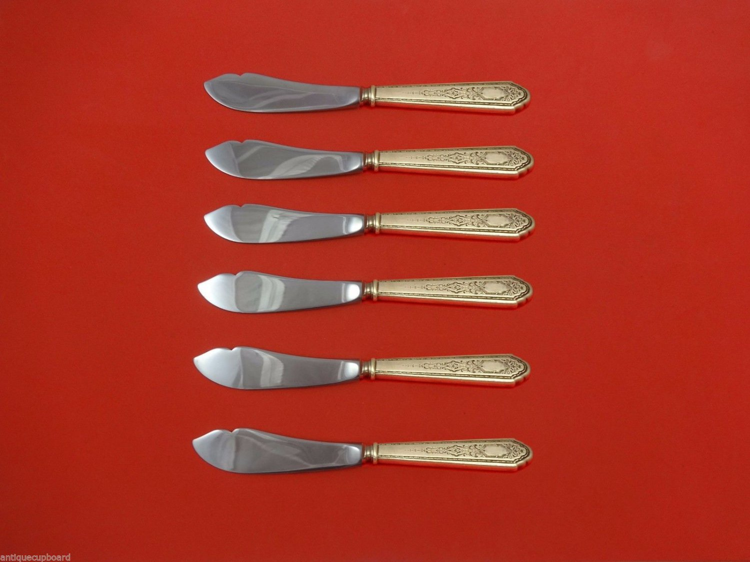 """Mary II by Lunt Sterling Silver Trout Knife Set 6pc. HHWS  Custom 7 1/2"""""""