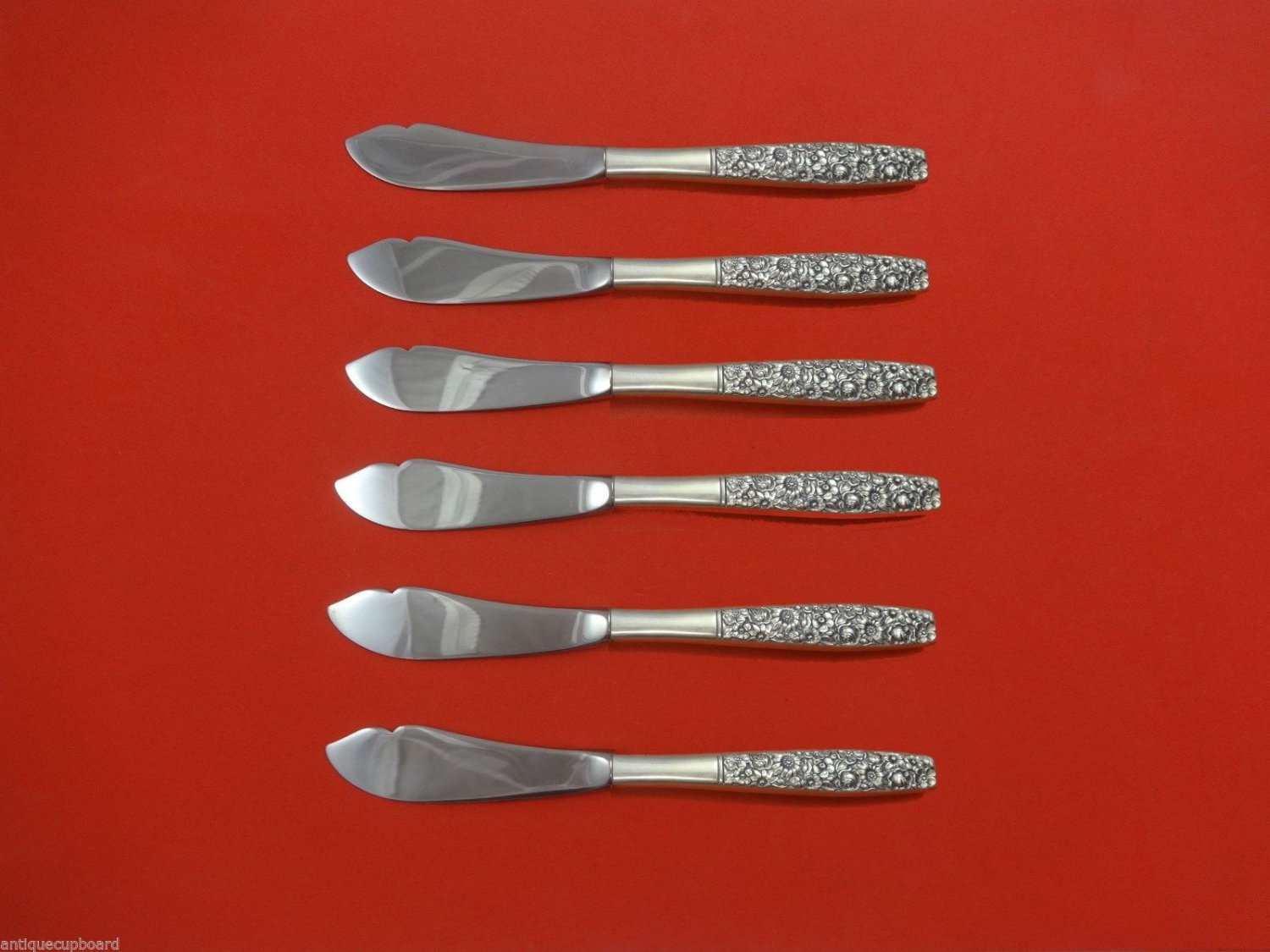 Contessina by Towle Sterling Silver Trout Knife Set 6pc HHWS  Custom Made 7 1/2""