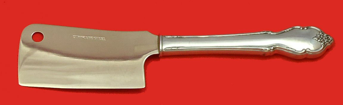 Breton Rose by International Sterling Silver Cheese Cleaver HHWS  Custom 6 1/2""