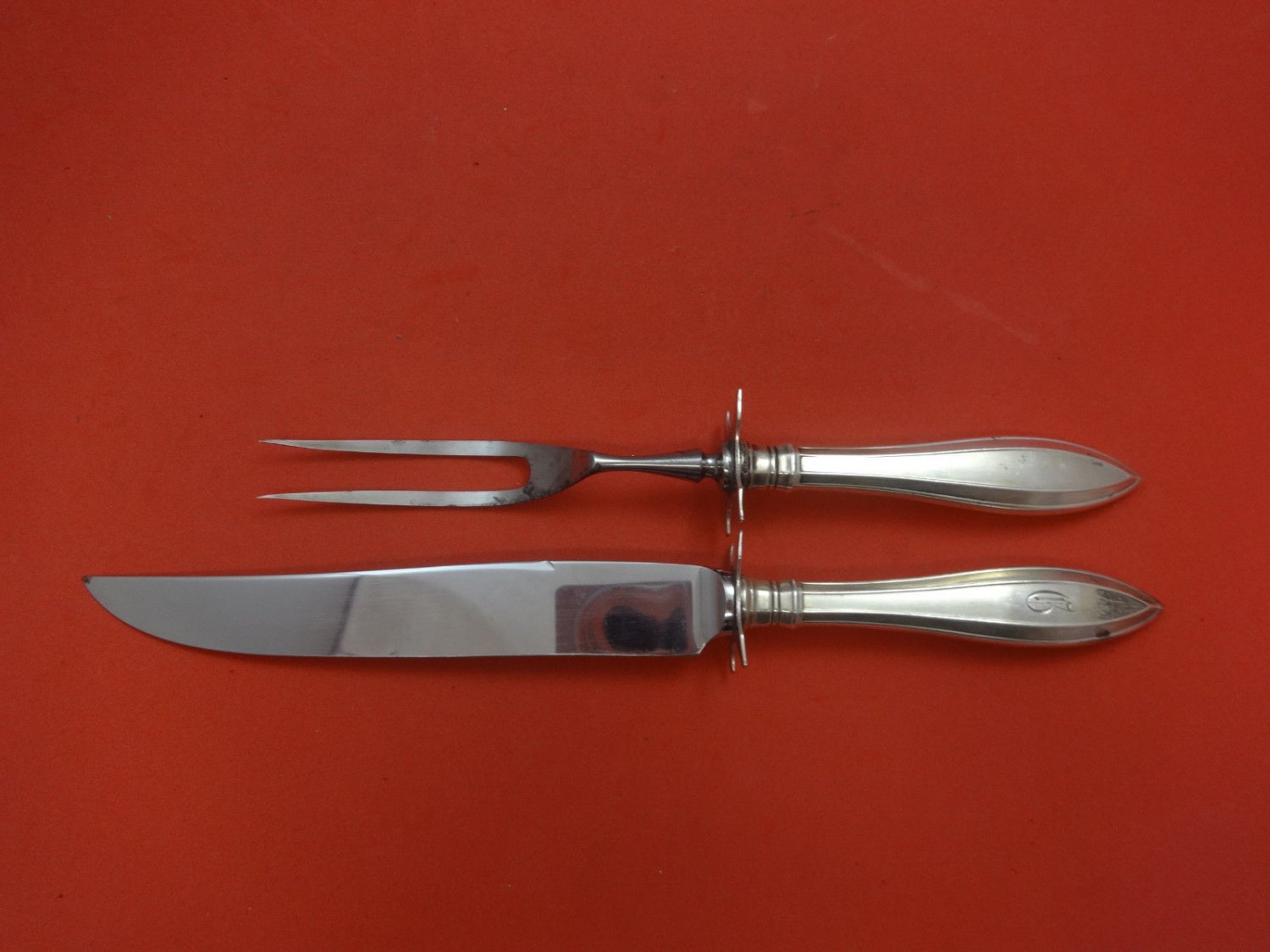 Portsmouth by Gorham Sterling Silver Steak Carving Set 10 5/8""