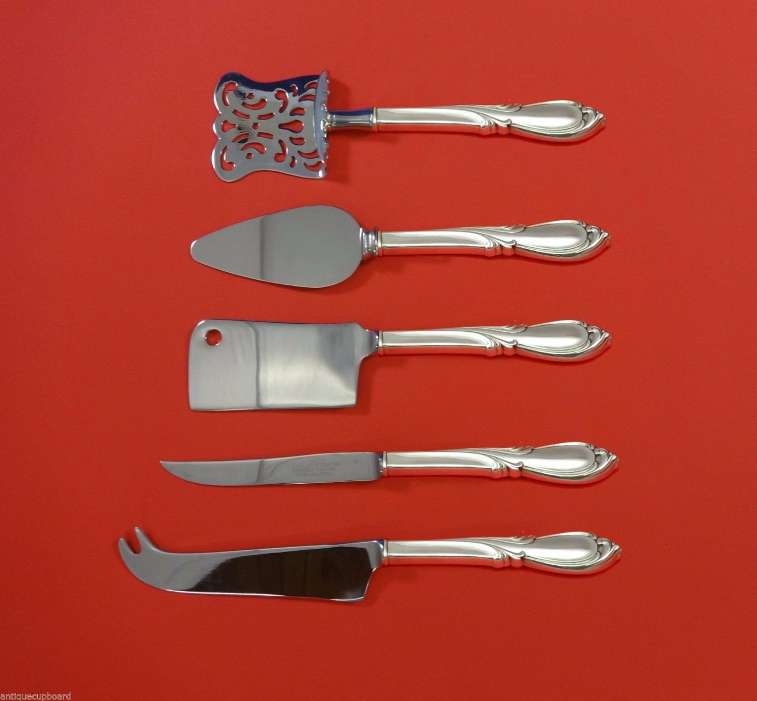 Rhapsody New by International Sterling Silver Fruit & Cheese Set 5pc Custom
