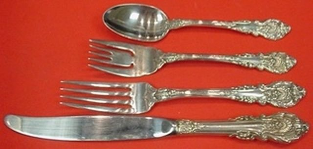 Sir Christopher by Wallace Sterling Silver Regular Size Place Setting(s) 4pc