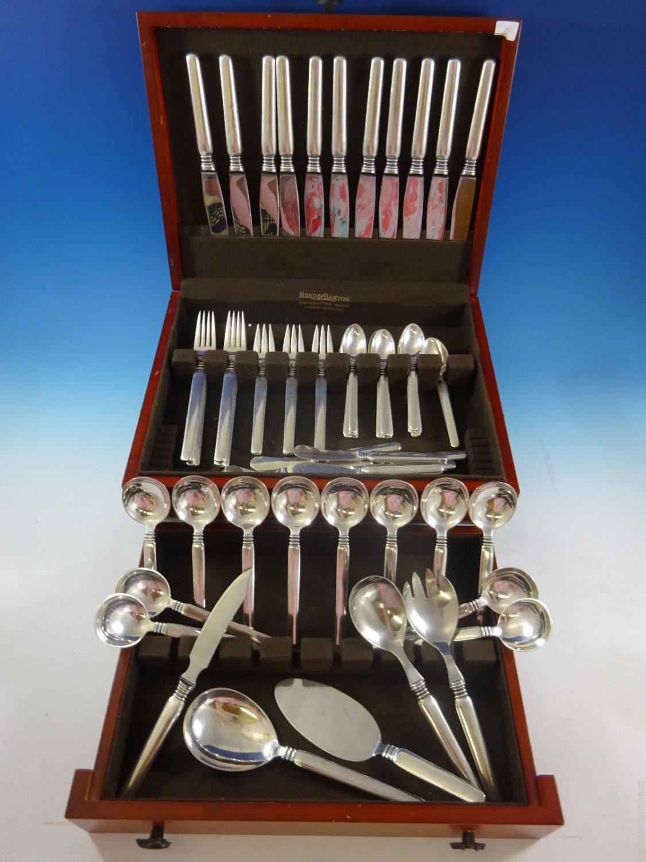 Windsor by W & S Sorensen Sterling Silver Danish Flatware Set Service 85 Pcs Mod
