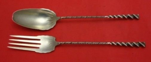 Twist #5 by Whiting Sterling Salad Serving Set 2pc 10 3/4""