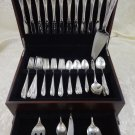 Sculptured Rose by Towle Sterling Silver Flatware Set For 12 Service 65 Pieces