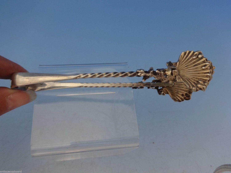 """Goerge Shiebler Sterling Silver Oyster Tongs Seashells Seaweed 5 1/2"""""""