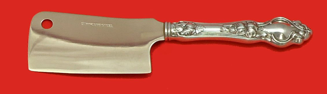 """Violet by Wallace Sterling Silver Cheese Cleaver HHWS  Custom Made 6 1/2"""""""