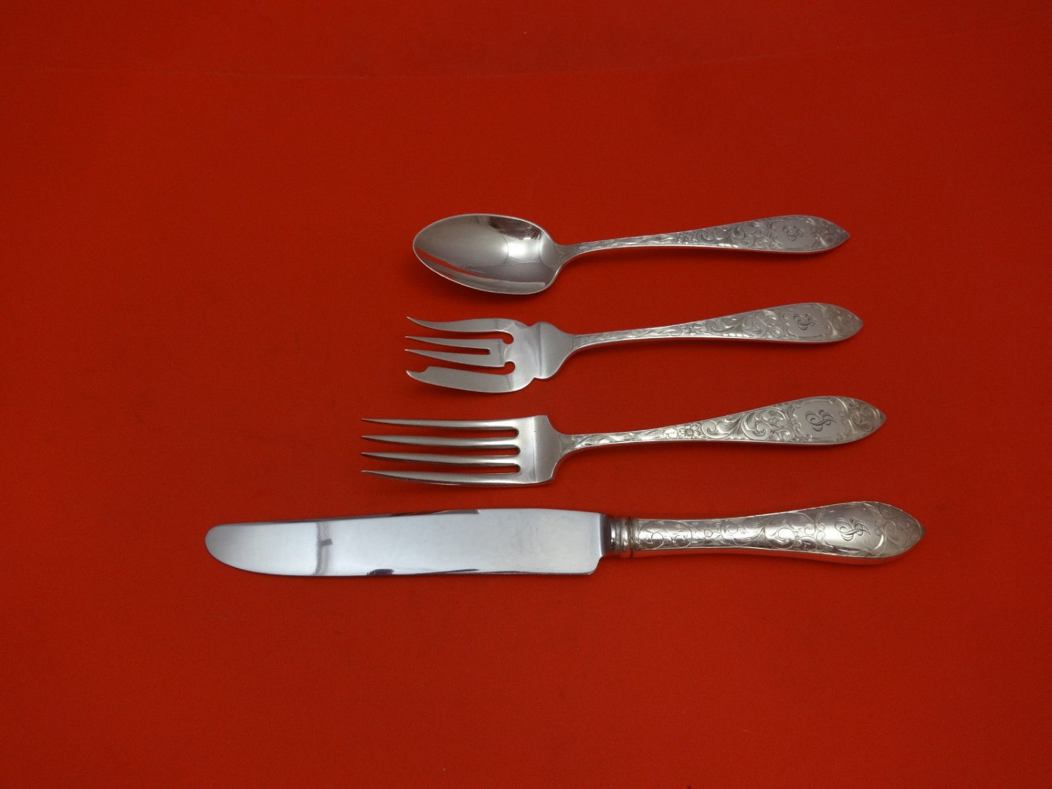 Lorraine by Schofield Sterling Silver Regular Size Place Setting(s) 4pc