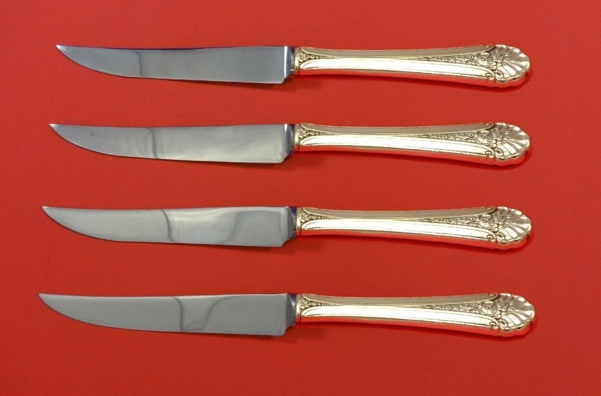 Royal Windsor by Towle Sterling Silver Steak Knife Set 4pc HHWS  Custom 8 1/2""