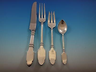 Robert Bruce by Graff, W, D Sterling Silver Flatware Set Dinner Service 196 pcs
