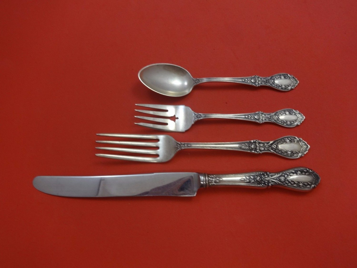 American Beauty by Manchester Sterling Silver Dinner Size Place Setting(s) 4pc
