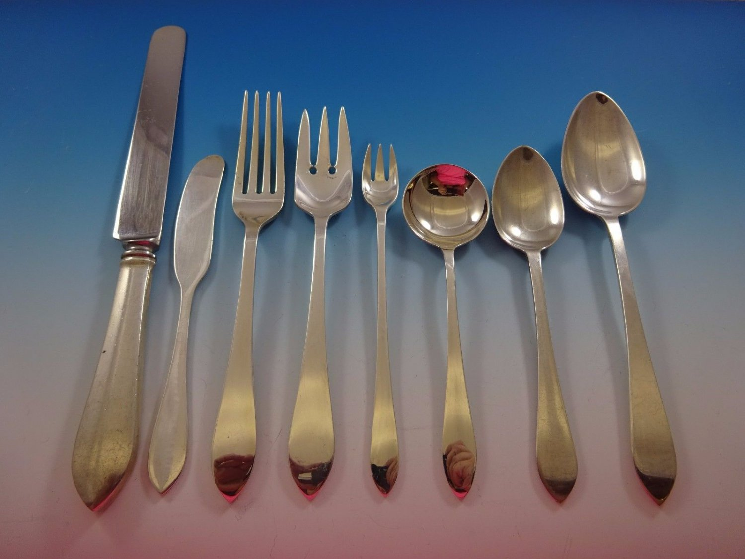 Faneuil by Tiffany and Co Sterling Silver Flatware Service For 8 Set 64 Pieces