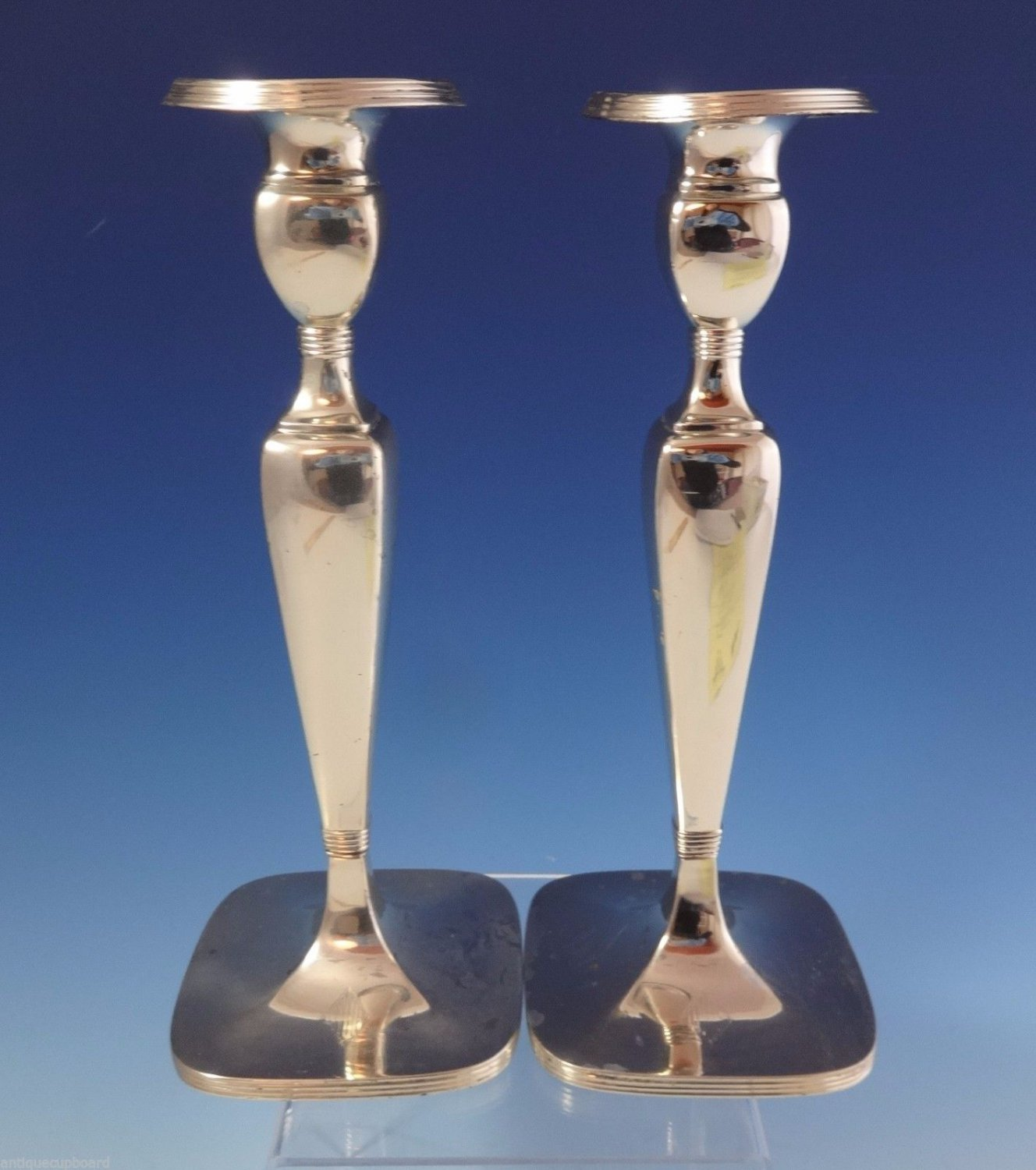 "Lebkuecher & Co. Sterling Silver Candlestick Pair 9 1/2"" (#1039)"