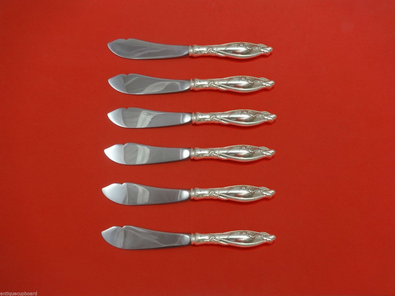 "Mille Fleurs by International Sterling Trout Knife Set 6pc. HHWS  Custom 7 1/2"""