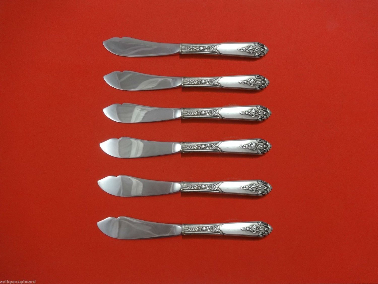 Promise by Royal Crest Sterling Silver Trout Knife Set 6pc. HHWS  Custom 7 1/2""