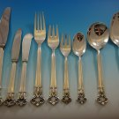 Monica by Cohr Danish Sterling Silver Flatware Set For 12 Service 114 Pcs