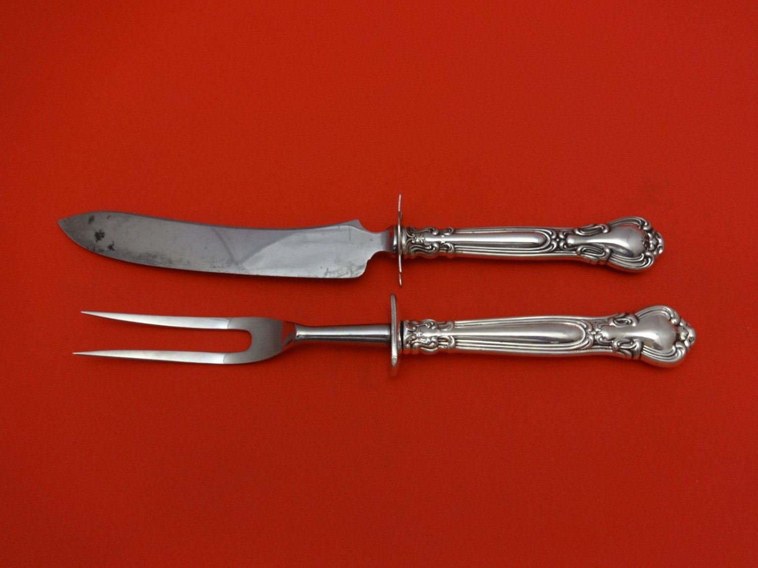 """Chantilly by Gorham Sterling Silver Steak Carving Set 2pc HHWS  (Knife 10"""")"""