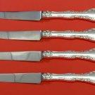 "Alencon Lace by Gorham Sterling Silver Steak Knife Set 4pc HHWS  Custom 8 1/2"""